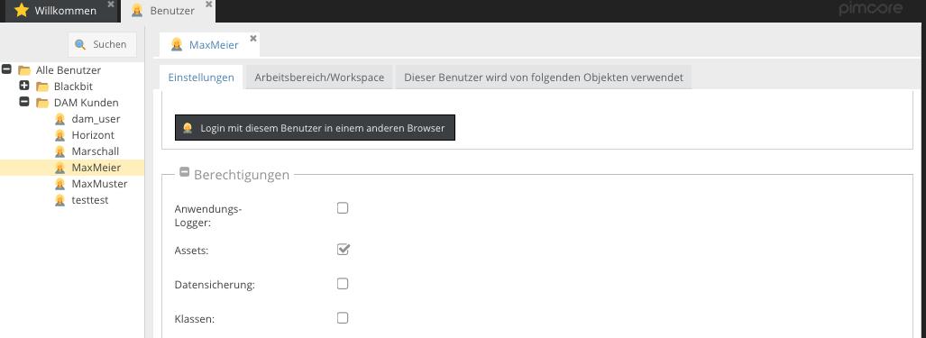 Zugangsrechte für den Zugriff auf pimcore per WebDAV1