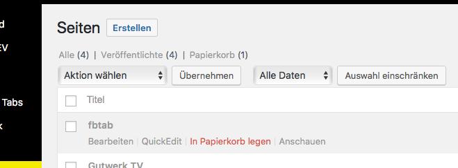 wordpress seite wiederherstellen 1