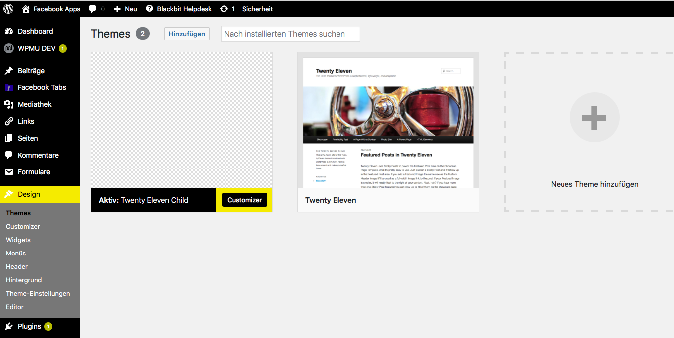 wordpress theme installieren 1