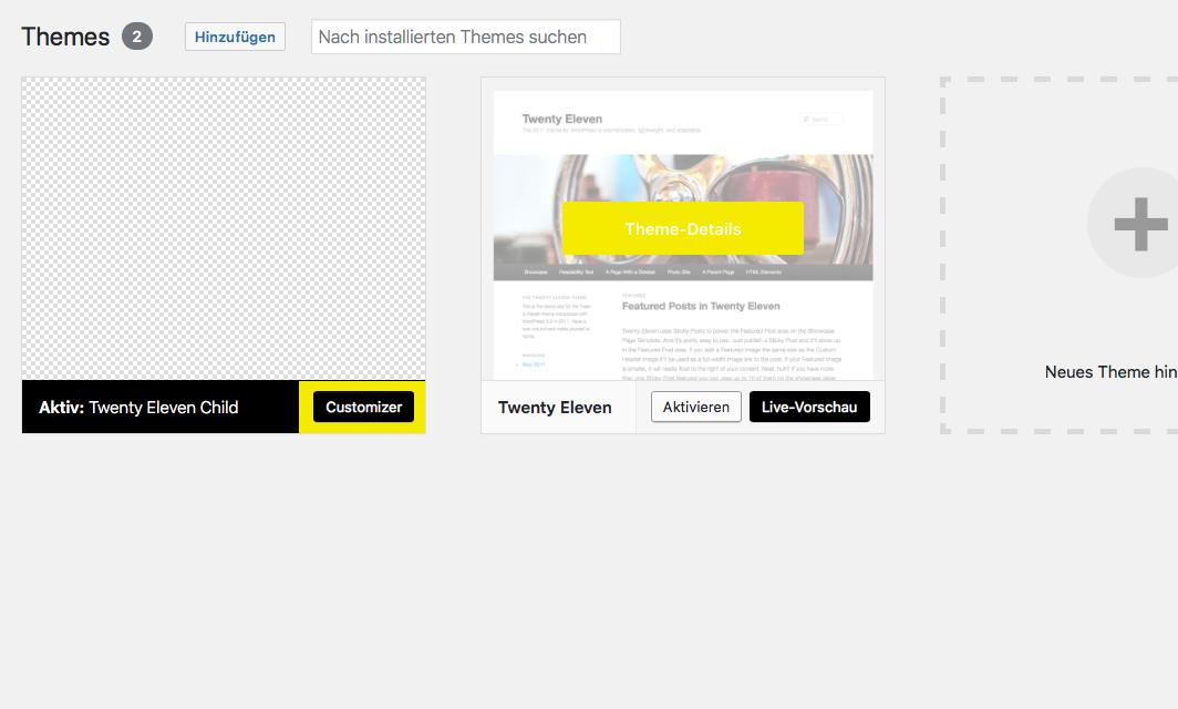 wordpress theme installieren 2