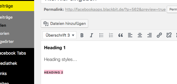 wordpress ueberschriften bearbeiten 1